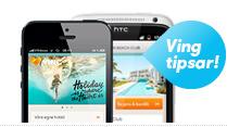 Sök resor med vår app