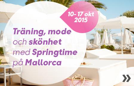 Träning, mode och skönhet med Springtime på Mallorca