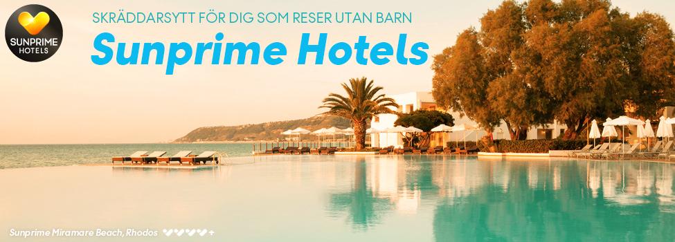 hotell - sunprime - koncept - sommar