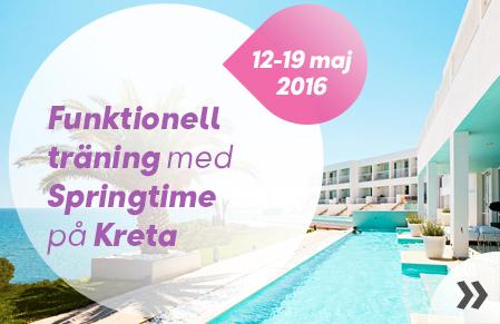 Funktionell träning med Springtime på Kreta