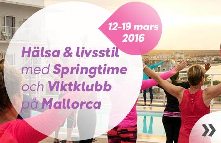 Hälso- och livsstilsresa med Springtime och Viktklubb till Mallorca