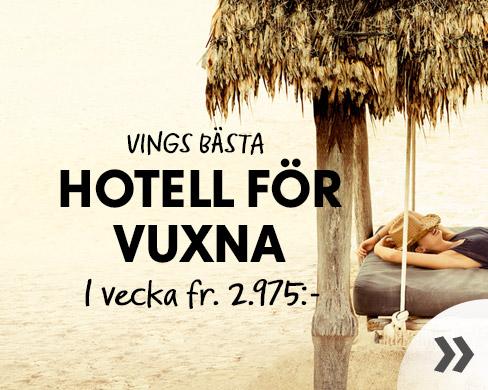 Vings bästa hotell för vuxna i sommar