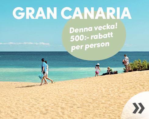 500:- rabatt till Gran Canaria