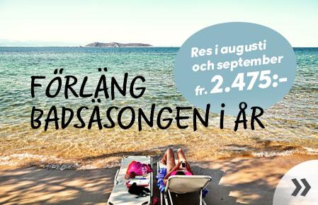 Res i augusti eller september