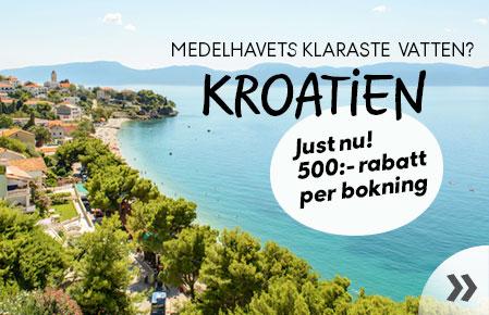 500:- rabatt till Kroatien
