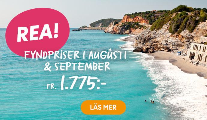 Förläng sommaren med en resa i augusti