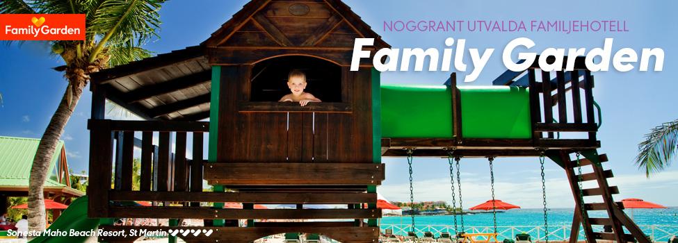 hotell - familygarden - koncept - vinter
