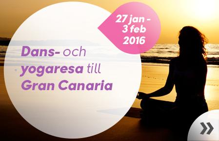 Dans- och yogaresa till Gran canaria
