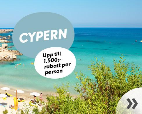 Kampanjpriser på resor till Cypern