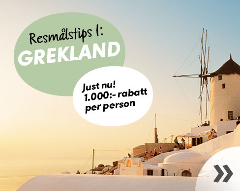 Kampanjpriser på resor till Grekland
