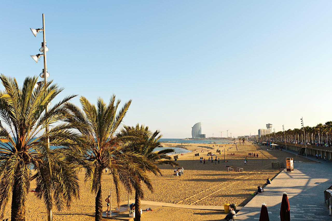 Spanien - Stranden i Barcelona
