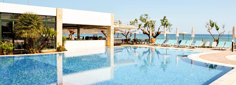 Iolida Beach, Chaniakusten, Agia Marina, Kreta, Grekland