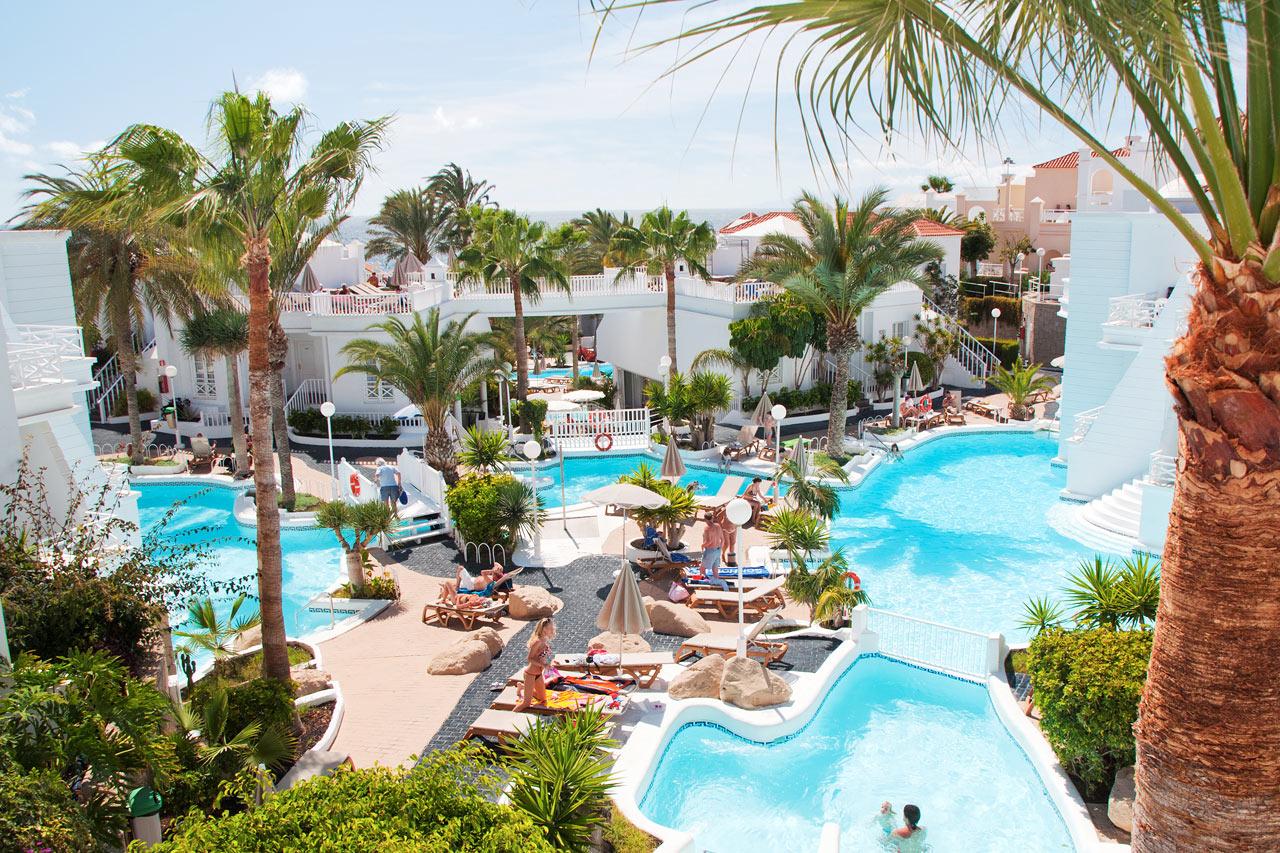 Lagos de Fañabé i Playa de las Américas - Hotell med uppvärmd pool