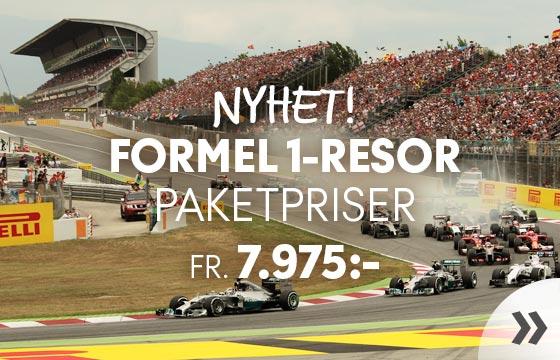 Nyhet! Formel 1-resor