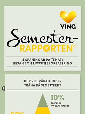 """Semesterrapporten 2015: 5 spaningar på temat """"Resan som livsstilsförbättring"""