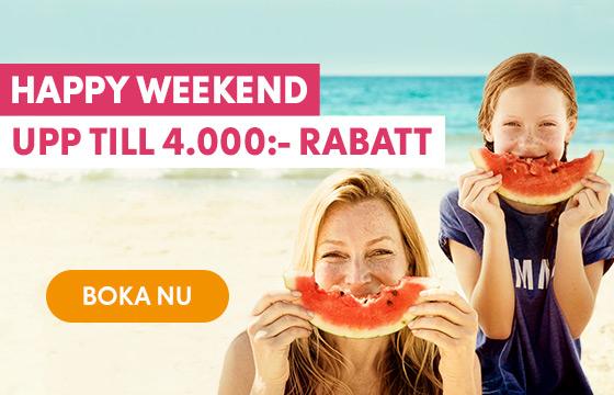 Happy weekend! Upp till 4.000:- rabatt