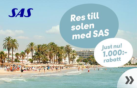 Res till solen med SAS!