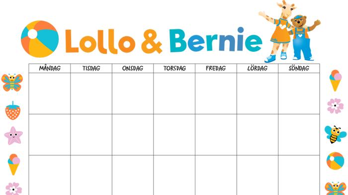 Nedräkning till semestern med Lollo & Bernie