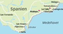 marbella karta Spela golf på Atalaya i Marbella (Spanien) marbella karta